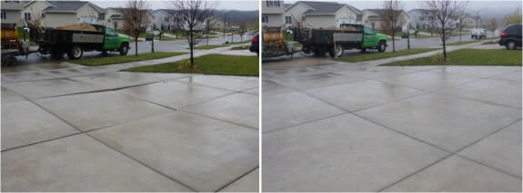 Milwaukee Driveway Before and After Concrete Mudjacking