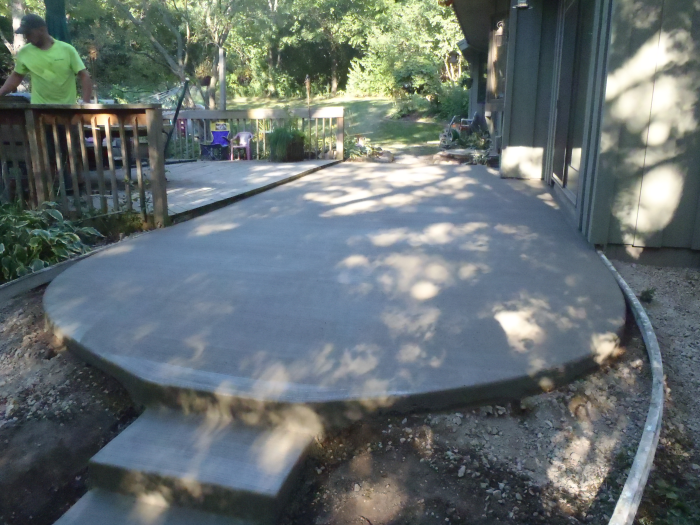 concrete patio contractors pouring brookfield 2 mudtech wisconsin
