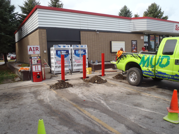 Concrete Pylon Installation West Allis Mudtech Wisconsin