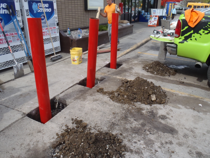Concrete Pylon Installation West Allis 1 Mudtech