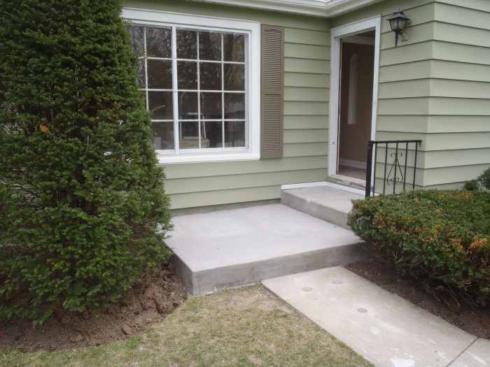 Concrete Stoop Installation Brookfield 1 MudTech Wisconsin Concrete Repair