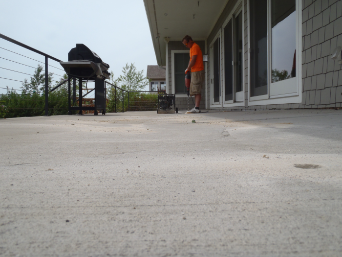 Concrete Backporch Leveling Services Caledonia Mudtech