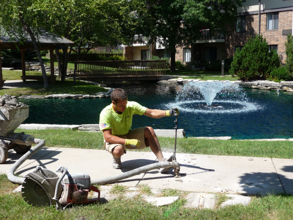 Madison mudjacking services repair sunken concrete structures
